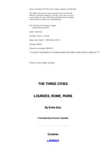 The Three Cities Trilogy, Complete - Lourdes, Rome and Paris