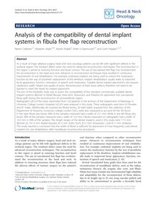 Analysis of the compatibility of dental implant systems in fibula free flap reconstruction