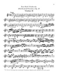Partition violons II, 1812 Overture, The Year 1812 / 1812 год (1812 god)