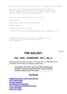 The Galaxy, Volume 23, No. 2, February, 1877