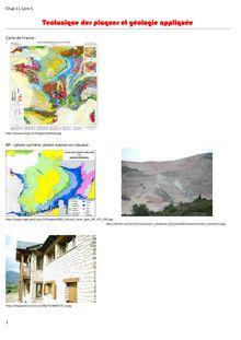 Chapitre sur la Tectonique des plaques et géologie appliquée