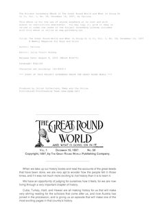 The Great Round World and What Is Going On In It, Vol. 1, No. 58, December 16, 1897 - A Weekly Magazine for Boys and Girls