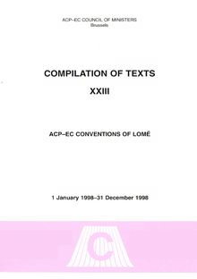 ACP-EC Conventions of Lomé