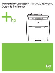 Notice Imprimantes HP  Color LaserJet 3800n