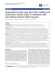 Augmented low-Dye tape alters foot mobility and neuromotor control of gait in individuals with and without exercise related leg pain