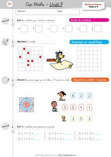 Mathématiques CP / CE1 - Cap Maths, période 3 (unités 7 et ...