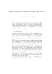 Numerical Modelling of Electrowetting by a Shape Inverse Approach