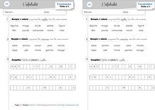 Vocabulaire CE1 – L'alphabet - Une fiche d'exercice