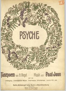 Partition couverture couleur, Psyche, Op.32, Tanzpoem von H. Regel