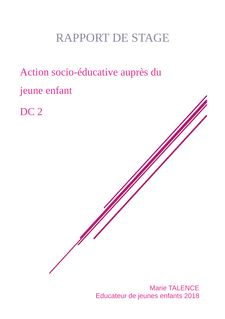 EJE -DC2 Action socio éducative aupres du jeune enfant