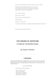The Sword of Antietam - A Story of the Nation