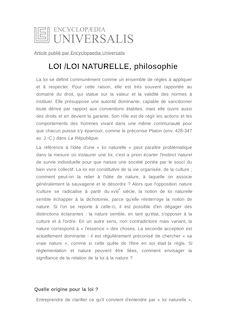 Définition de : LOI /LOI NATURELLE, philosophie - Marie GAUTIER