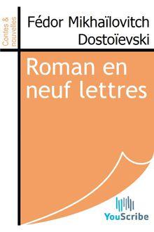 Roman en neuf lettres