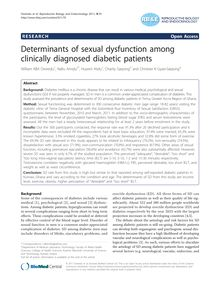Determinants of sexual dysfunction among clinically diagnosed diabetic patients