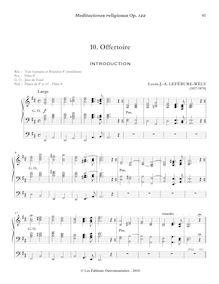 Partition , Offertoire: Introduction - Prière, Meditaciones religiosas, Op.122