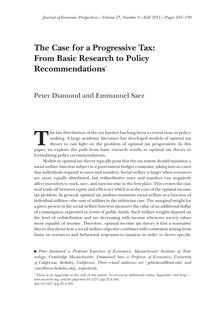 The Case for a Progressive Tax: From Basic Research to Policy Recommendations