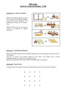 Défi maths Série 10 - Ecole de Morbier - CM2