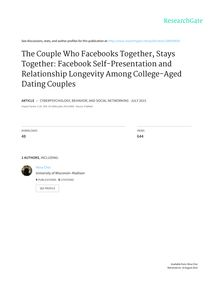 The Couple Who Facebooks Together, Stays Together: Facebook Self-Presentation and Relationship Longevity Among College-Aged Dating Couples