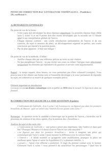 Corrigé Bac 2014 (Pondichéry) - Série L - Littérature