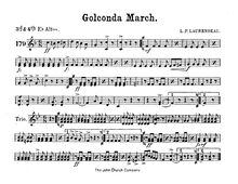 Partition Alto cor 3/4 (E♭), Golconda March, A♭ major and D♭ major