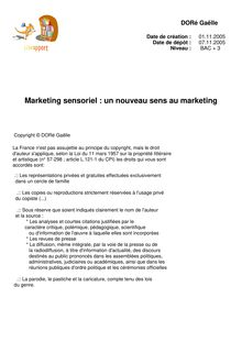 Marketing sensoriel : un nouveau sens au marketing