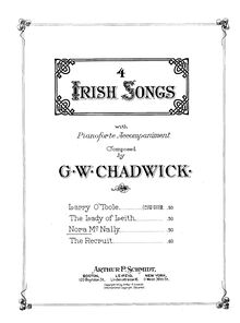 Partition , Nora McNally, Four Irish chansons, F.222, Chadwick, George Whitefield
