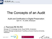The Concepts of an Audit, April 14, 2004