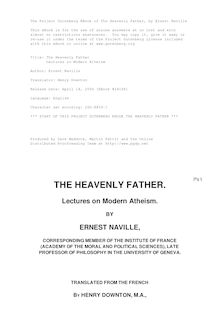 The Heavenly Father - Lectures on Modern Atheism