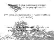 Cours sur les guerres mondiales et les régimes totalitaires (1914-1945) - cours d'histoire pour les élèves de troisième