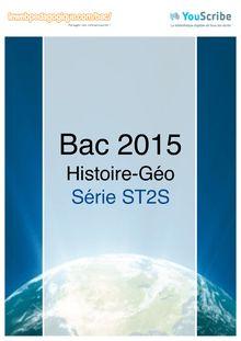 Corrigé Bac 2015 - Histoire-Géo - ST2S