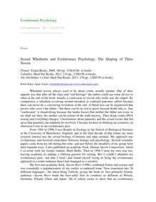Sexual whodunits and evolutionary psychology: The shaping of three novels