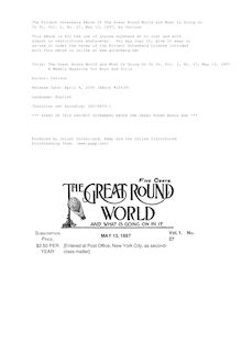 The Great Round World and What Is Going On In It, Vol. 1, No. 27, May 13, 1897 - A Weekly Magazine for Boys and Girls
