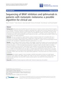 Sequencing of BRAF inhibitors and ipilimumab in patients with metastatic melanoma: a possible algorithm for clinical use