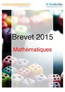 Corrigé - Brevet 2015 - Maths