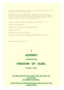 A Journey through the Kingdom of Oude, Volumes I & II