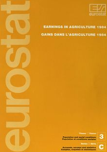 Earnings in agriculture 1984