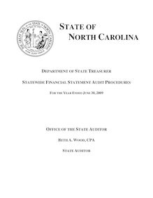 Department of State Treasurer - Statewide Financial Statement Audit  Procedures