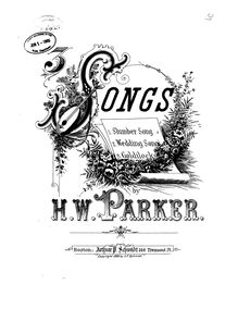 Partition , Goldilocks, 3 Early chansons, Parker, Horatio