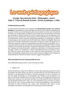 Baccalauréat Philosophie 2016 - Série L - Sujet 3