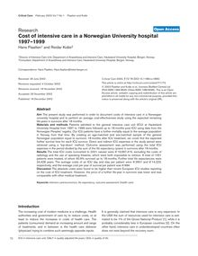 Cost of intensive care in a Norwegian University hospital 1997–1999