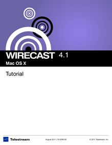 Wirecast™ Tutorial