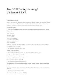 Bac 2012 S Allemand LV2 Corrige