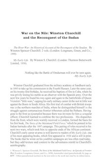 War on the Nile: Winston Churchill and the Reconquest of the Sudan