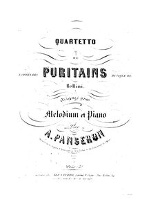 Partition Melodium (Harmonium) , partie, Quatuor des Puritains, Quartetto de l