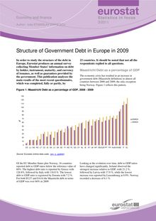 Structure of government debt in Europe in 2009