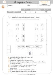 DDM CP/CE1 Espace – Séquence complète : Le plan, la maquette et les différents points de vue - Documents annexes à ces séquences Espace CP Evaluation
