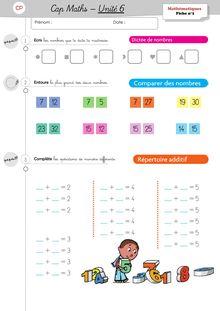 Mathématiques CP – Période 2 - Unité 6 Exercices