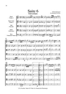 Partition  6 en F major, Le Journal Du Printemps, Fischer, Johann Caspar Ferdinand