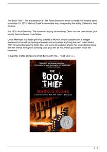 The Book Thief Book Reviews