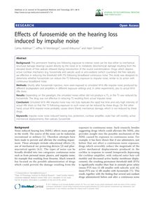Effects of furosemide on the hearing loss induced by impulse noise